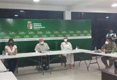 Las autoridades instalaron el espacio de análisis hoy a las 19:00