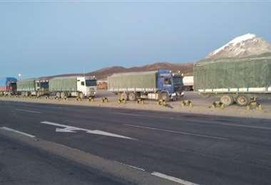 FTC decomisa camiones con productos de contrabando/Foto: ABI