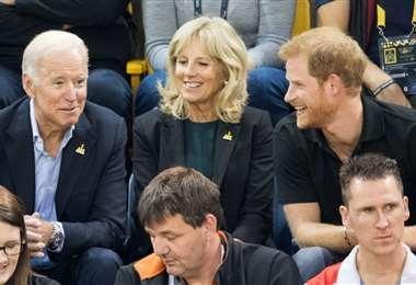 Los eposos Biden con el príncipe Harry en los Juegos Invictus de Toronto
