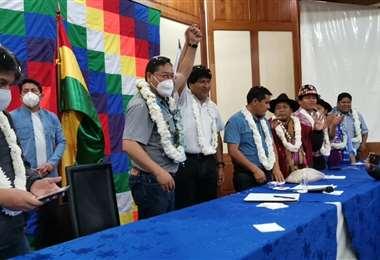 Figuras visibles del masismo, como Evo Morales y Luis Arce, participan de la reunión