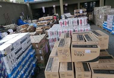 Productos de contrabando decomisados en Tarija