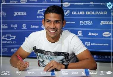 Diego Bejarano renovó contrato por dos años en Bolívar. Foto: Prensa Bolívar
