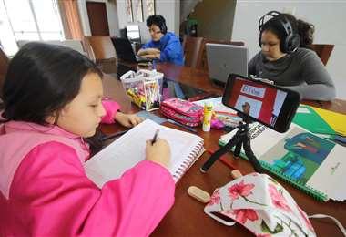 Algunos colegios ya concluyeron las clases virtuales /Foto: Jorge Gutiérrez