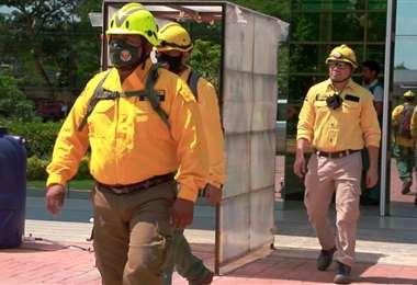 El la Gobernación hay un equipo de 12 bomberos forestales instructores. Foto: Gobernación