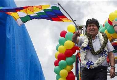 Evo lideró el ampliado nacional del MAS que se celebró en Cochabamba: Foto: APNEWS