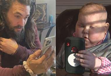 Jason Momoa, de 41 años, reaccionó al video viral de un pequeño seguidor