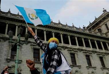 El sábado se efectuaron las protestas más fuertes en la capital guatemalteca
