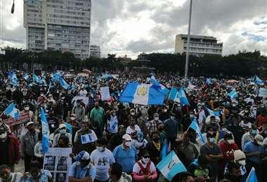 Protestas contra el presidente de Guatemala
