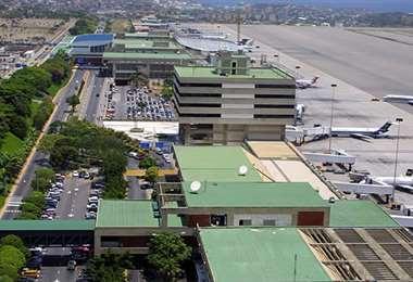El Aeropuerto Internacional de Maiquetía Simón Bolívar, en Caracas