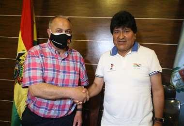 Fernando Costa se reunió el sábado con el ex presidente Evo Morales en Iv