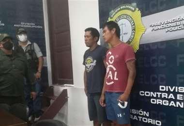 Ladrones capturados por la Felcc