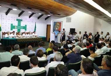 En febrero hubo una reunión similar, buscando unidad en las elecciones generales