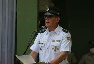 el coronel Franz Selliz también fue comandante de Cochabamba. Foto: Juan C. Torrejón