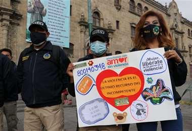 La movilización contra la violencia I Gobierno.