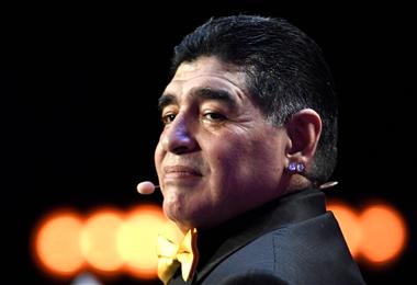 Diego Armando Maradona, fue uno de los grandes del fútbol mundial. Foto. Archivo
