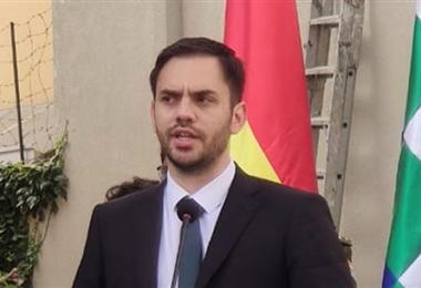 Carlos Eduardo del Castillo, ministro de Gobierno. Foto. Internet
