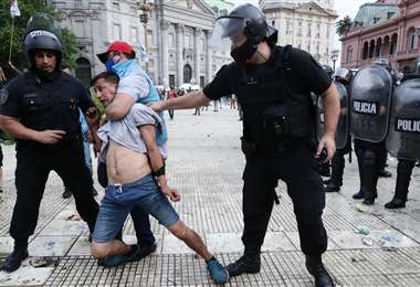 Varios incidentes se generaron este jueves. Foto: AFP