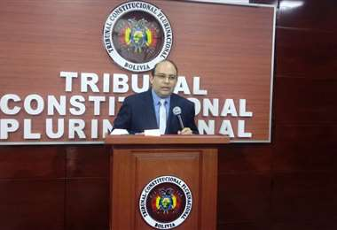El presidente del Tribunal Constitucional Plurinacional (TCP), Paul Franco /ABI