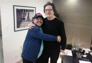 Diego y Charly García, dos amigos. Foto: internet