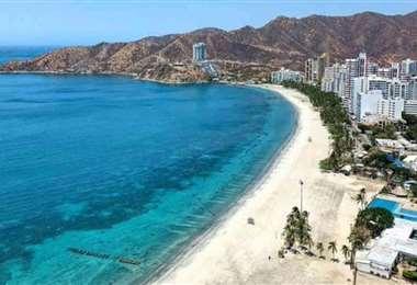 Esta es la ciudad de Barranquilla, situada a orillas del Caribe