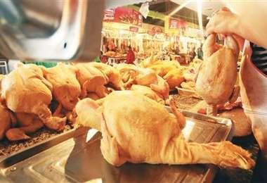 Actualmente el kilo de pollo se vende a Bs 10