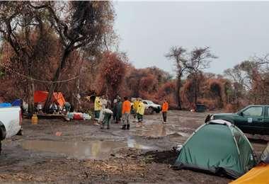 El Sernap informó que la lluvia extinguió el fuego en Kaa Iya. Foto: Sernap