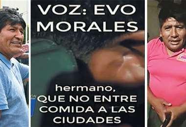 En un supuesto audio, Evo Morales convocaba a cercar las ciudades.
