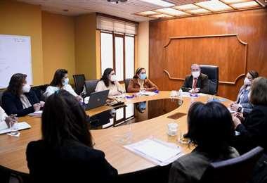 Hoy en la reunión en La Paz| Foto: Ministerio de Salud