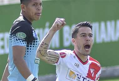 Sanguinetti marcó el primer gol para el equipo que representa a El Alto. Foto: APG
