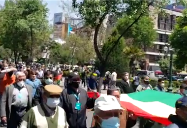 La movilización en La Paz I captura.