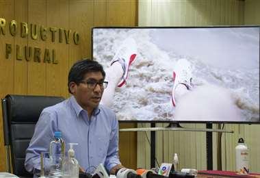 Ministro de Desarrollo Productivo, Néstor Huanca.