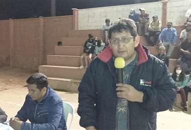 Ricardo Zárate, precandidato chuquisaqueño por el MAS-IPSP.
