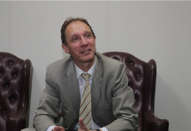 Stefan Duppel, embajador de Alemania en Bolivia Foto. Fuad Landívar