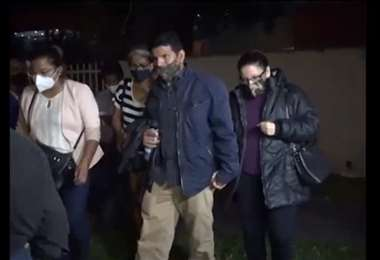 Captura de pantalla de la aprehensión de Wilson Cáceres y su esposa en agosto