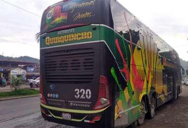 Este el bus que transportó al equipo que envió Antezana. Foto: Internet