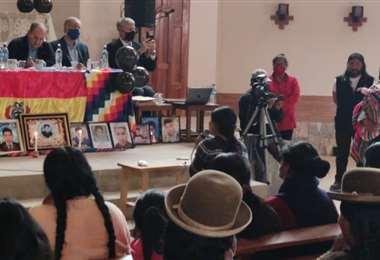Los expertos cuando llegaron a El Alto