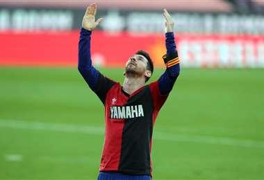 Messi le rindió homenaje a Maradona. Foto: @FCBarcelona_es