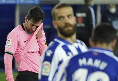 Al Barcelona no le va muy bien en el torneo local, el fin de semana empató. Foto: AFP