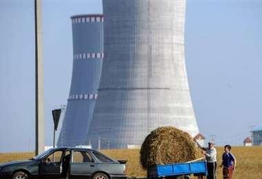 La central nuclear en Bielorrusia. Foto AFP
