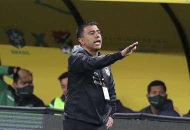 Farías estuvo en Brasil el 9 de octubre dirigiendo a Bolivia. Foto: AFP