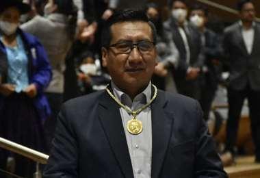 Freddy Mamani es el nuevo presidente de la Cámara de Diputados (Foto: APG Noticias)