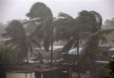 Eta toca tierra en Bilwi, Puerto Cabezas, Nicaragua. Foto AFP