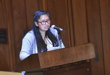 Eva Copa, parlamentaria del MAS. Foto. APG Noticias