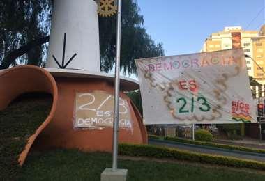 La protesta de 'Ríos de Pie' I redes.