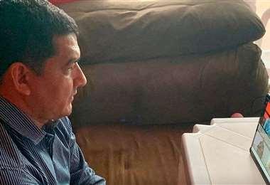 Rodríguez, presidente de la FBF reconocido por el comité ejecutivo. Foto: FBF