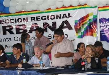 La dirección Urbana del MAS presentó a sus candidatos. Foto: J Gutiérrez