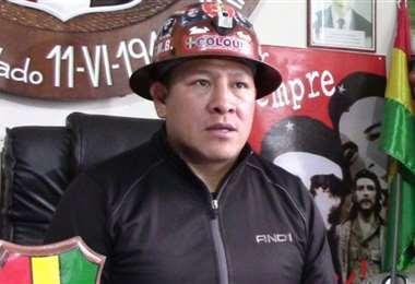 Orlando Gutiérrez, exejecutivo de los mineros de Bolivia.