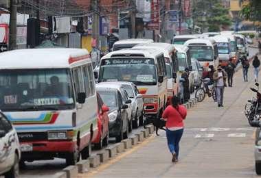 El transporte urbano se pronunciará mañana. Foto: Jorge Gutiérrez