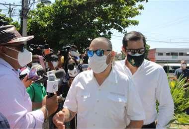 Calvo estuvo unos minutos ante la Fiscalía. Foto: Juan Carlos Torrejón