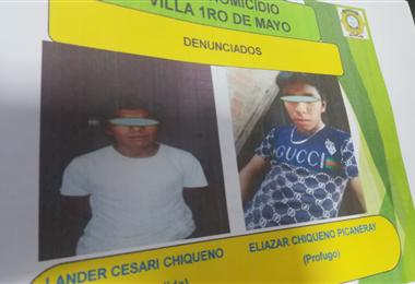 Las Policía expuso imágenes de los denunciados. Foto. Guider Arancibia